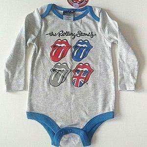 The Rolling Stones Long Sleeve Onesie